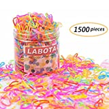 LABOTA 1500 pièces Multicolore Attache Cheveux,Mini Bandes en Caoutchouc Élastique pour les Bébés Filles