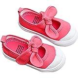 DEBAIJIA Primeros Pasos Zapatos 1-12 años Escuela Lona Niña Lazo Antideslizante Moda Casual Deportes Planos Zapatillas de Dep
