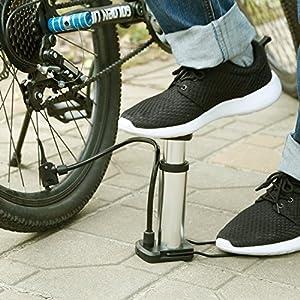 NICEAO Mini Bike Pump Portable High Pressure Bicycle Tire Pump - Quick & Easy for Road, Mountain & BMX Bikes