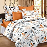 Story@ Home 186 TC Cotton Double Bedsheet with 2 Pillow Covers - White