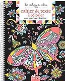 Mon cahier de texte à colorier avec des stickers à gratter