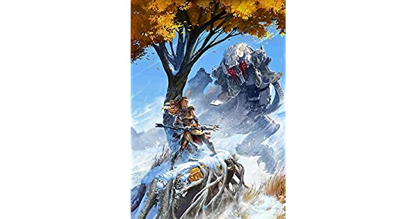 Horizon Zero Dawn Video Game Poster Canvas Premium Quality A0-A4.