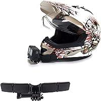 Kit di montaggio per casco da moto con cuscinetti curvi adesivi per GoPro Hero 9, 8, 7, (2018), 6 5 4 3, Hero Black…