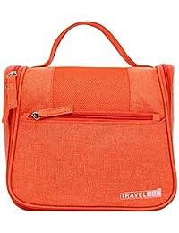 Italish Multipurpose Waterproof Travel Makeup Cosmetic Bag Organizer Case Traveling Handle Bag For Women-Orange