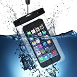 Pochette Étanche, VTIN Universel Etui Housse Pochette étanche Certifiée IPX8 Imperméable avec Courroie de Cou pour iPhone 7, SE, iPhone 6, Huawei, HTC et d'autres appareils d'une taille égale et inférieure à 6 Pouce