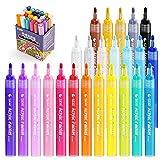 Sta Acrylstifte, 24 Farben – Acrylic Painter Deco Pen – für Keramik, Stoff, Glas, Stein, Holz, Metall