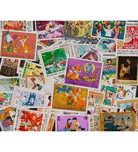Briefmarken 50 (Goldhahn 50 Märchen und Kinder Briefmarken für Sammler)