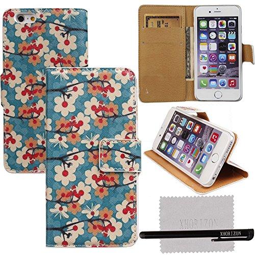 xhorizon® Für 4.7 Inch iPhone 6 Böhmische Art Hybrid Tuch / Leder FlipBrieftasche Kasten mit 2 Kartensteckplätze & Geld Halter Case Hülle #4