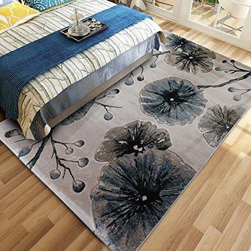 WSLTH einfach Northern Home Teppich europäischen American Wohnzimmer Couchtisch Schlafzimmer Teppich Foto Decke Dicker waschbar, 1.2 * 1.7M - Nights Bettwäsche Northern
