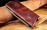 Original Akira Hand Made [Echt Leder] Handyhülle Kompatibel mit Samsung Galaxy S5 Mini Limited Wallet Flip Cover Handgemacht Case Schutzhülle Etui Flip Wallet Pen [Deutscher FACHHANDEL] Braun