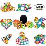 PovKeever 72 Magnetische Bausteine Kleinkind Spielzeug Magnetische Bauklötze Konstruktion Blöcke Konstruktionsbausteine Spielzeug Magnetspielzeug Lernspielzeug Perfektes für Kinder, Bestes Geburtstagsgeschenk, Weihnachtsgeschen