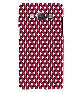 PrintVisa Corporate Print & Pattern Cross 3D Hard Polycarbonate Designer Back Case Cover for Samsung Galaxy E7