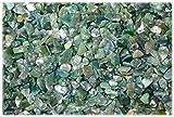 Kaltner Präsente Granulat Deko Steine - Mini Trommelsteine Ladesteine aus dem Edelstein Moosachat (Ø 4 bis 8 mm)