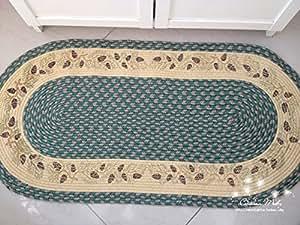 Fadfay Parure, Style rustique européenne de Tapis pour salon, chambre unique 100% tissé à la main Tapis de sol Tapis Imprimé, étui pin