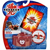 Spinmaster Bakugan Battle Brawlers New Vestroia DEKA Series Figure - Large Pyrus Red Scorpion Trap with 1 Metal Gate Card by Bakugan
