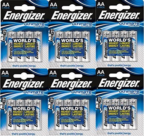 Energizer L91 Ultimate Lithium Mignon Batterie, 3000 mAh (Aa-energizer Batterien)