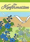 Einladungskarten Konfirmation Mädchen Junge mit Innentext Motiv Blumen Vögel 20 Klappkarten DIN A6 mit weißen Umschlägen im Set Konfirmationskarten Einladung Konfirmation Junge Mädchen mit Kuvert K32