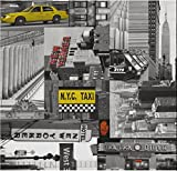 i.stHOME Klebefolie Möbelfolie New York City Taxi - Dekorfolie NY 45 x 200 cm