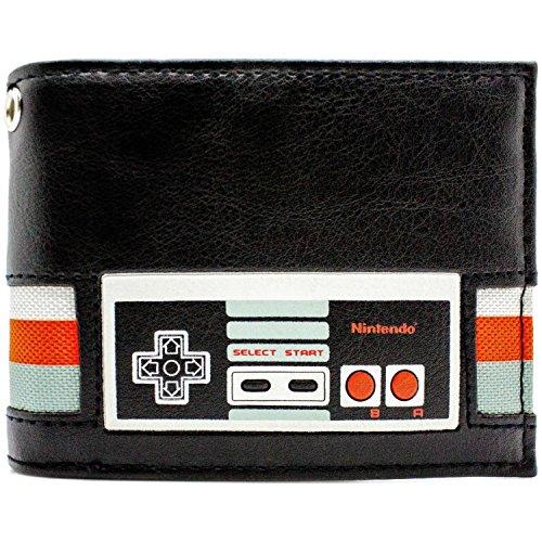 Nintendo NES Retro Controller-Streifen Schwarz Portemonnaie Geldbörse