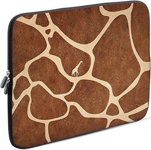 Sidorenko Laptop Tasche für 17-17,3 Zoll | Universal Notebooktasche Schutzhülle | Laptoptasche aus Neopren, PC Computer Hülle Sleeve Case Etui, Braun
