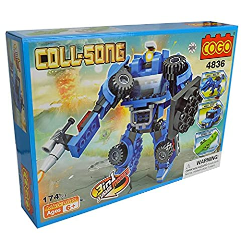 Cogo 3 in 1 kit – Dinosaurier Beast/Jeep/Armee Roboter Solider Educational Multi Bausteine Konstruktion Baustein-Set