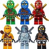 LEGO Ninjago Figurenset: 6 Ninjago Figuren (Lloyd, Jay, Kai, Cole, Skylor und Titanium Zane) mit Zubehör