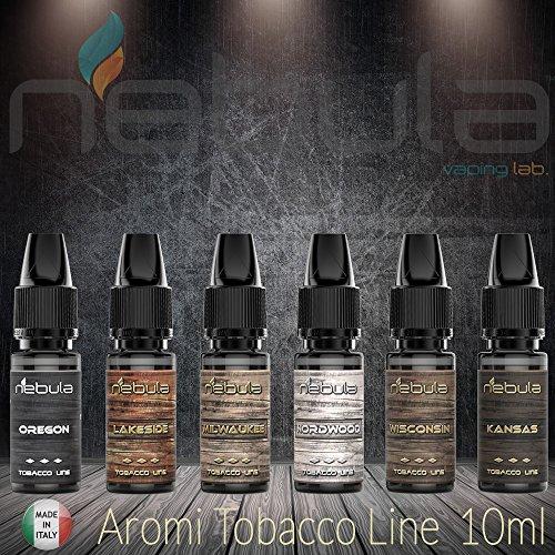 Aroma nebula 10ml tabacco vari gusti tabaccosi aromi made in italy (kit da 6 aromi)