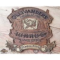 Harry Potter Diagon Ollivanders Macher von feinen Wands Zeichen. J.K. Lieblingsladen von Rowling. Hergestellt aus Holz und handbemalt und für einen Filmlook gealtert.