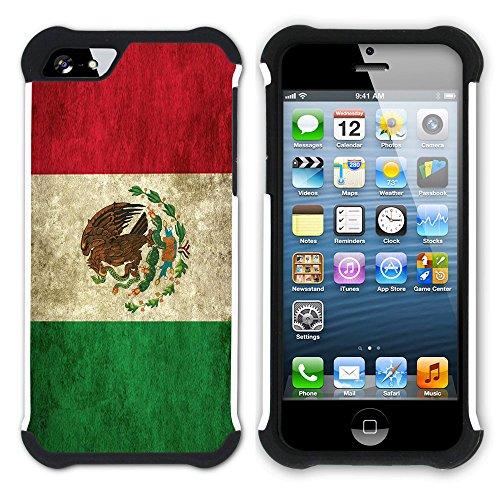 Graphic4You Vintage Uralt Flagge Von Venezuela Venezolanisch Design Hart + Weiche Kratzfeste Hülle Case Schale Tasche Schutzhülle für Apple iPhone SE / 5 / 5S Mexiko Mexikanisch