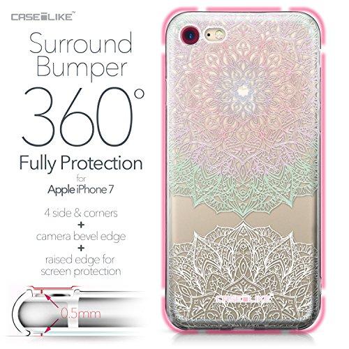 CASEiLIKE Coque iPhone 7 , Ultra Mince Crystal Case TPU Silicone Clair Transparente Exact Fit Soft Housse Etui Coque Pour iPhone 7 Art Mandala 2092