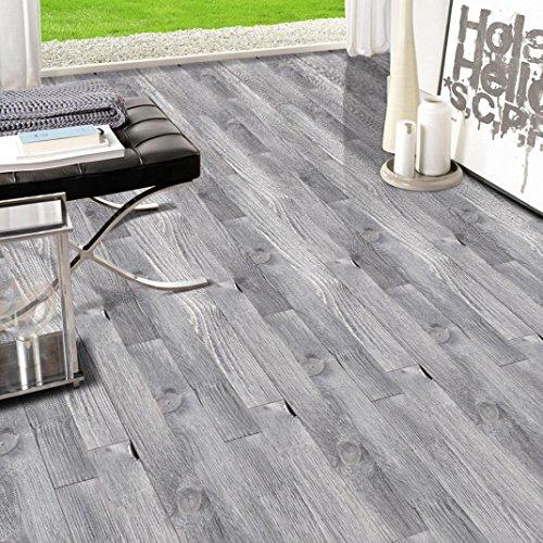 Huihong Boden Aufkleber 20x50 Cm Kleber Simulation 3D Holzboden Aufkleber Fliesen Kunst Boden Wandtattoo Aufkleber Diy Küche Bad Boden Dekor (J, 20 cm * 500 cm) -