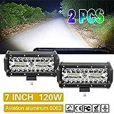 2Pcs 7 inch LED Licht bar 120W Nebel Licht CREE-XBD Chips Fahren Licht Arbeitsscheinwerfer für Auto offroad Traktor ATV SUV UTV 4WD 4X4s Colight