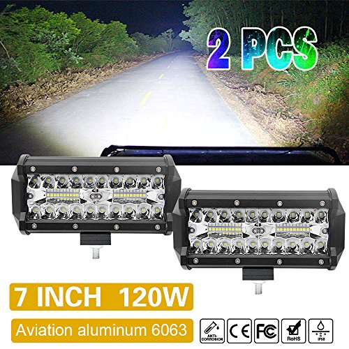 7 Zoll LED Light Bar Driving LED Work Lights BarWaterproof for Car Trucks Off road and More (2pcs)