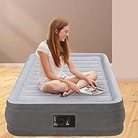 Intex 67766 Materasso Singolo Comfort Plush, Con Pompa Interna, Antracite/Grigio, 99 x 191 x 33 cm