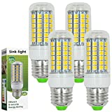 Sink-light® 4 Stück E27 LED Lampe 9W AC 220-240V Kaltweiß 6500K 69x5050 SMD