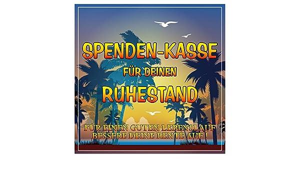 Geschenk Aufkleber Etikett Spenden Kasse Für Rentner Zum