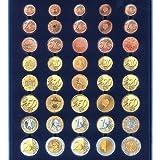 SAFE 6340 TABLEAUS NOVA 5 x EURO KURSMÜNZENSÄTZE VON 1 - 2 - 5 - 10 - 20 - 50 CENT & 1 - 2 EUROMÜNZEN - IDEAL FÜR KOMPLETTE EURO KMS & PASST FÜR NOVA - NOVA EXQUISITE - HOLZ KASSETTEN 5883 – WURZELHOLZ KASSETTEN 5883 - MÜNZKOFFER 176 - 172 - 173 - 174 - 175 - 177 - 179 - 276