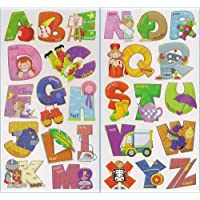 LARGE ALPHABET LETTERS Childrens Wall Stickers for Girls & Boys Bedroom, Childrens Playroom or Babies Nursery (Kids Stickarounds)