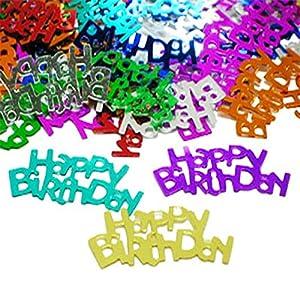 Gifts 4 All Occasions Limited SHATCHI-1000 - Confeti decorativo para fiesta de cumpleaños (14 g, varios colores)