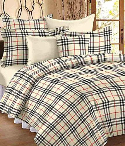 Renown Checks Print Reversible Poly Cotton Single Bed Ac Blanket / Dohar