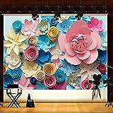 #10: Alcoa Prime 7x5FT Colorful Paper Flower Photography Backgrounds Child Vinyl Photo Backdrops
