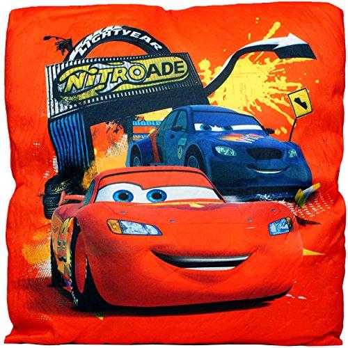 alles-meine.de GmbH Kissen / Schmusekissen / Sitzkissen -  Disney Cars / Lightning McQueen - Auto  - Kuschelkissen - Mikrofaser - 40 cm * 40 cm - groß - beidseitig Bedruckt - s..