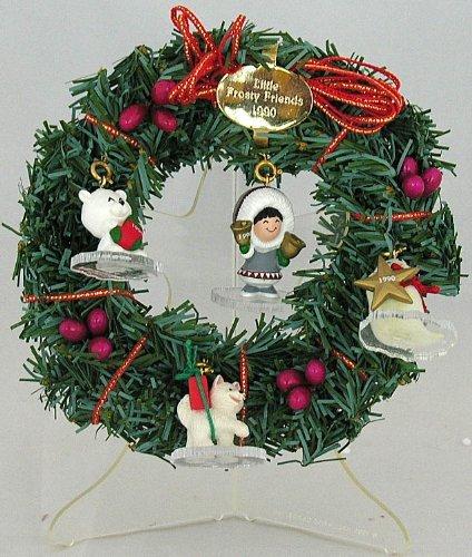Hallmark Keepsake Little Frosty Friends Memory Wreath Dated 1990 Set of 4 Ornaments by Hallmark