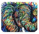 Abstrakte Bunte Elefant-Malerei-Kunst fertigte langlebiges Haus und Büro Mousepad besonders an