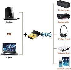 Sufi World Bluetooth Adapter, CSR 4.0 USB Dongle Bluetooth Receiver Support Windows 10 8 7 Vista XP 32/64 Bit
