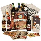 Geburtstagsgeschenk Bier Geschenkbox | inklusive Geschenkkarton Bierbroschüre Bierinfos Bierdeckel | Vatertagsgeschenk oder Geschenk für Mann Papa Vater zum Geburtstag | Geschenkset Bierbox