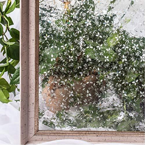 YFXGSTLI Film De Fenêtre Films De Couverture De Fenêtre, Autocollants Décoratifs pour Fleurs Statiques 3D sans Colle, Autocollants pour Vitres De Fenêtres 45 * 200Cm