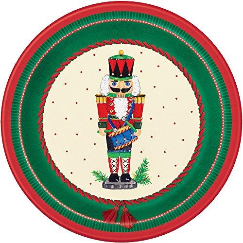 18cm cascanueces Navidad platos de papel para fiesta, pack de 8