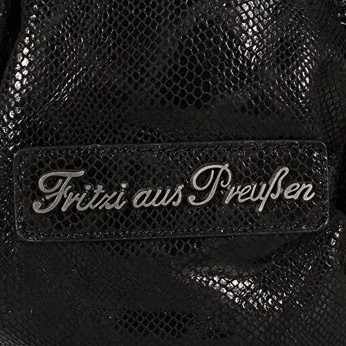 Fritzi aus Preußen - Tasche DAJA SNAKE, beige black-snake