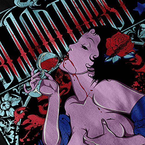 Blut Durst Vampir Sexy Geist Damen Schwarz S-2XL Muskelshirt | Wellcoda Schwarz
